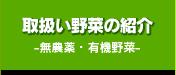 取扱い野菜の紹介-無農薬・有機野菜-
